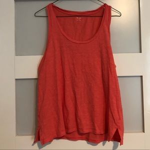 Madewell - Tank Top - Coral / Orange - Size Large